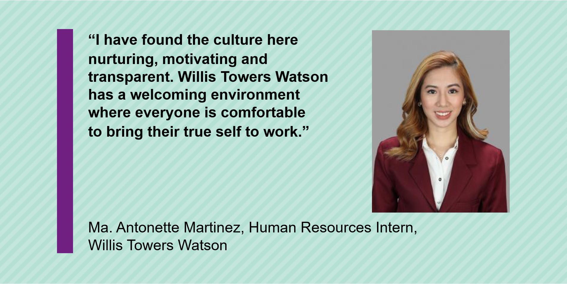 WIllis Towers Watson intern program